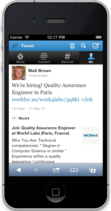 Use Twitter cards for social recruiting strategies